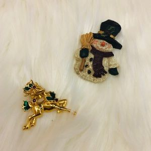 🍁Set of 2 winter brooches